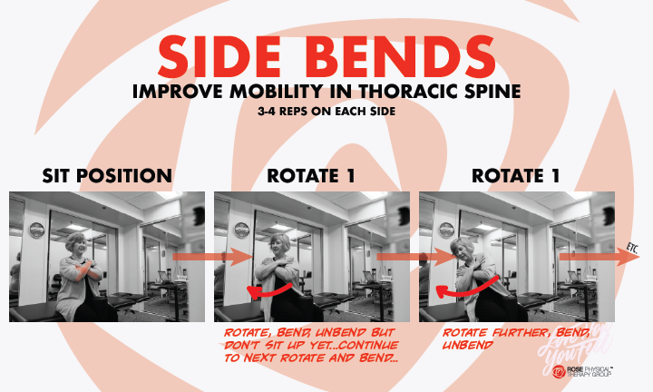 physical therapy thoracic spine side bends