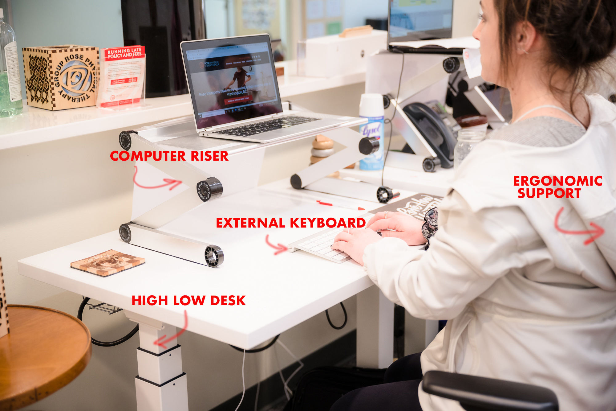 washington dc ergonomics telework desk setup home physical therapy