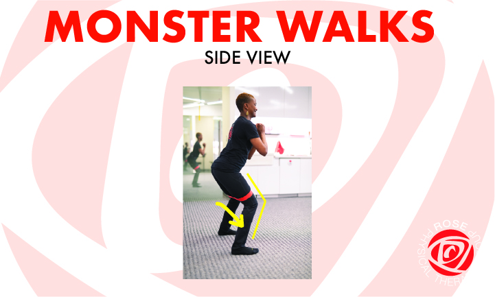 side view monster walks lateral band best physical therapy