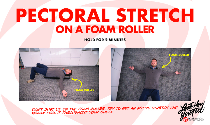 best washington dc physical therapy pectoral stretch on foam roller rose