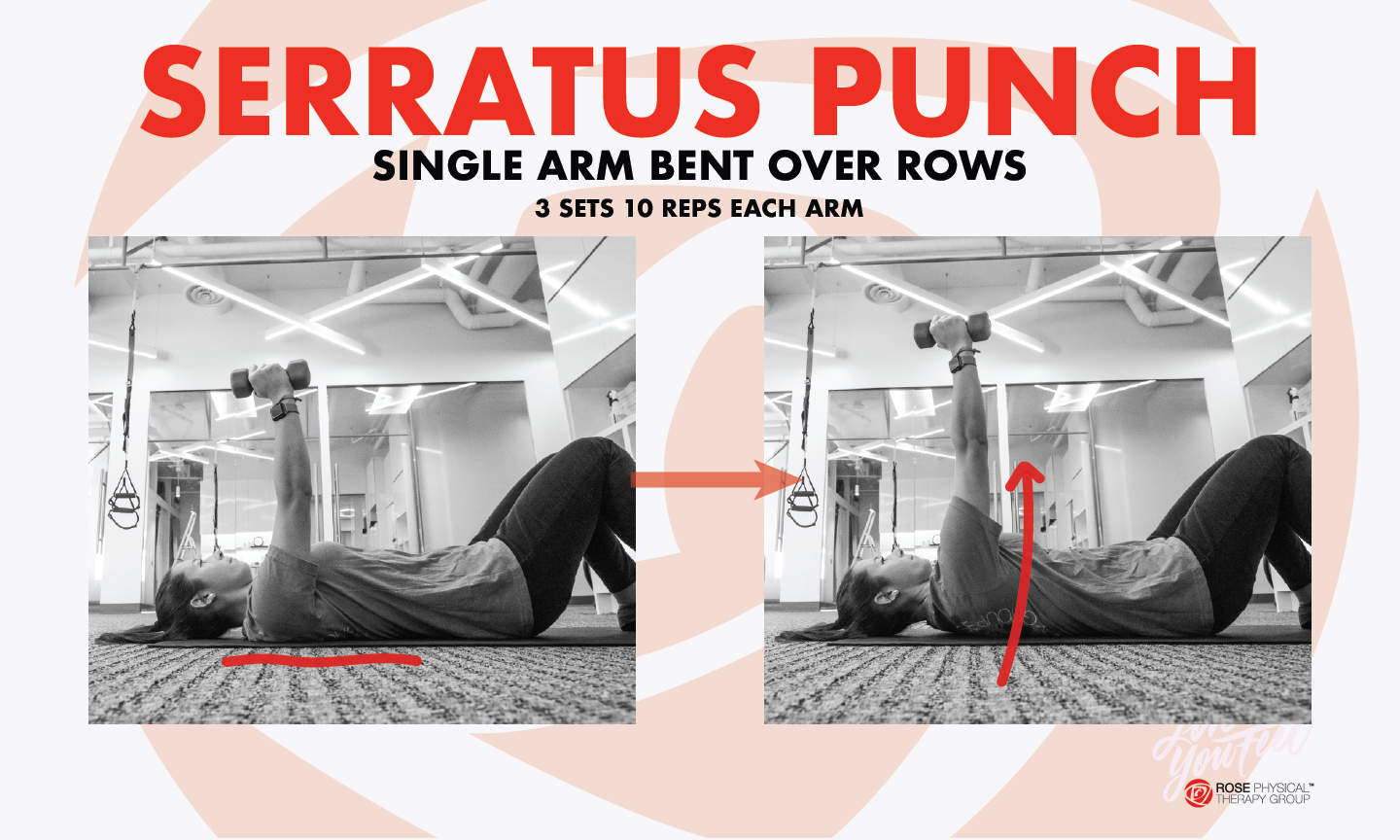 serratus punch rotator cuff shoulder physical therapy