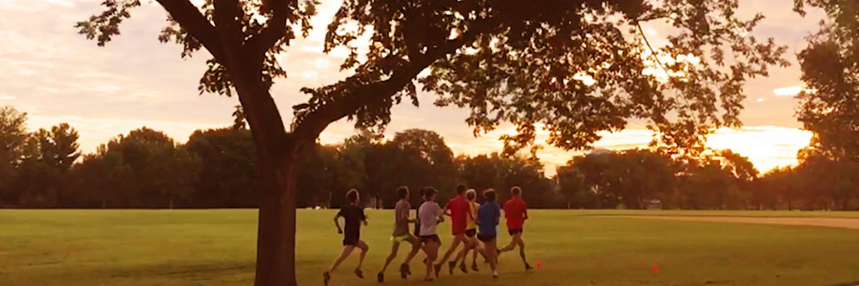 Running at Hains Point in Washington, DC