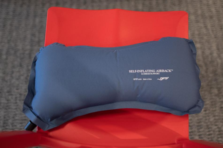 self inflating McKenzie physical therapy lumbar roll