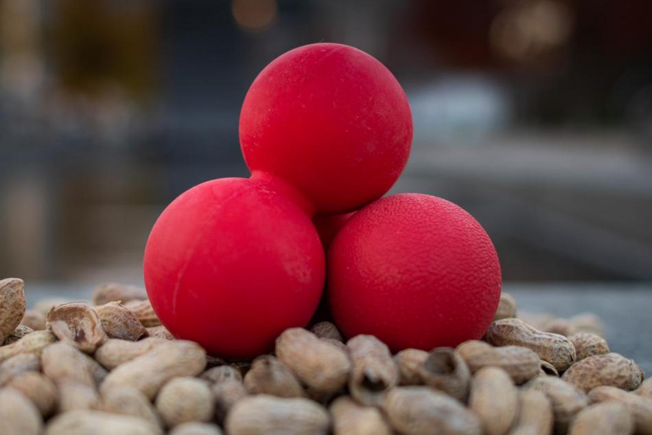 red double lacrosse ball physical therapy peanut