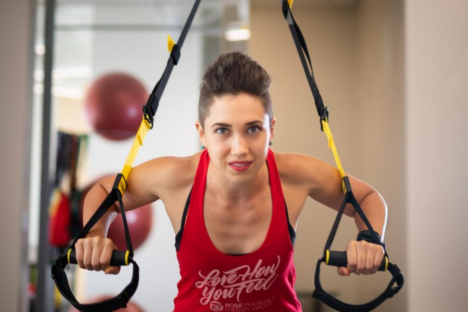 trx kit at Rose physical therapy in washington dc
