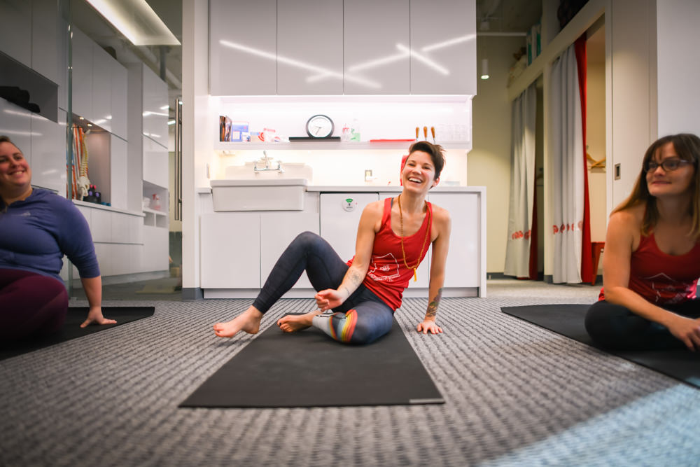 yoga fun at rose physical therapy in navy yard washington dc
